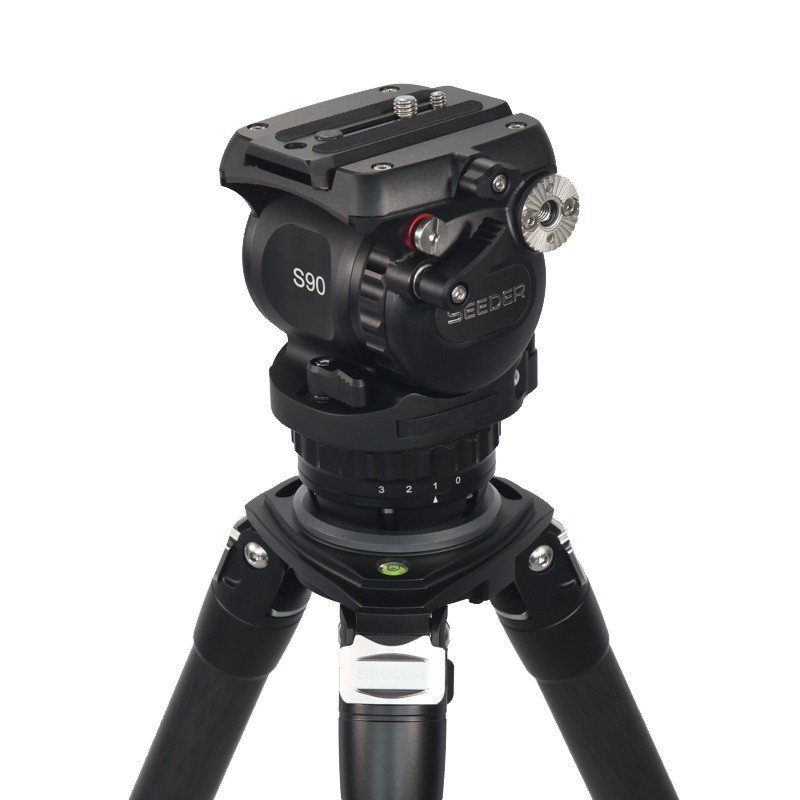 Seeder S90C4 3-stage 100% carbon fiber Video tripod System with Padded Bag