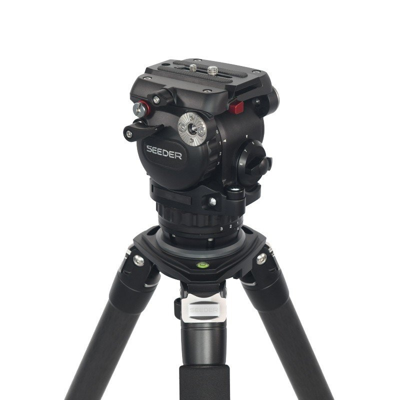 Seeder S91C4 3-stage 100% carbon fiber Video tripod System with Padded Bag