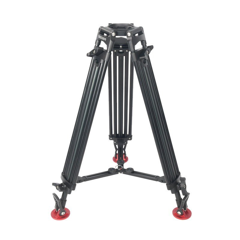 Seeder T100A2 Two-Stage Aluminum Video Tripod Systems with Padded Bag
