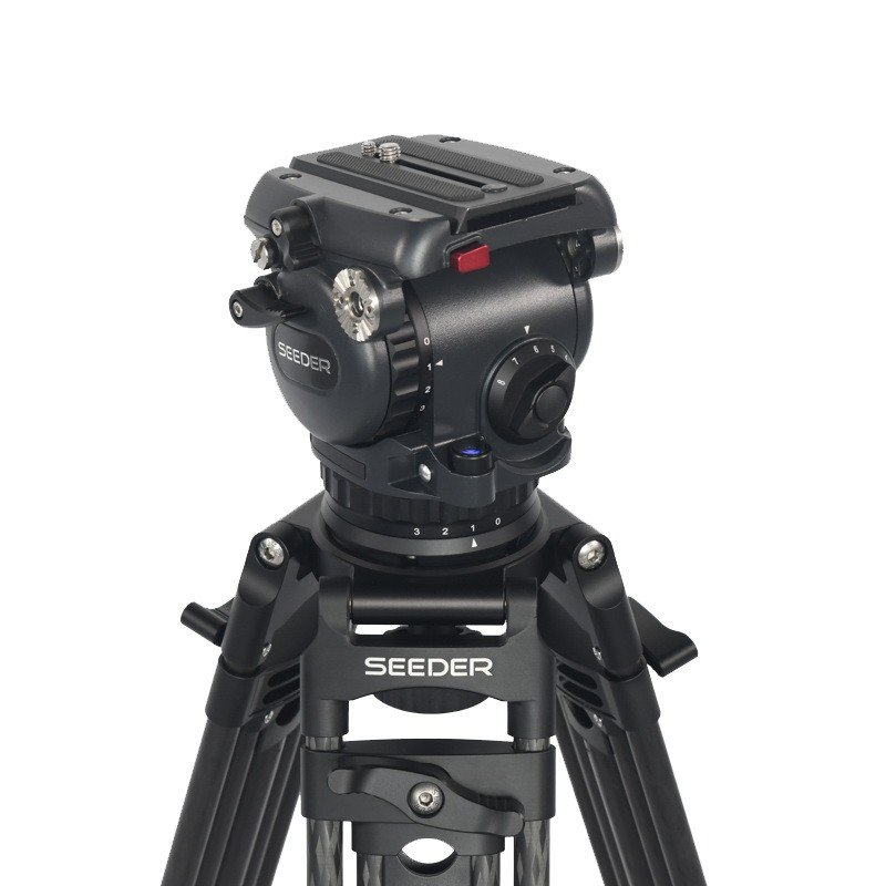Seeder T100C2 2-stage 100% carbon fiber Video tripod System with Padded Bag