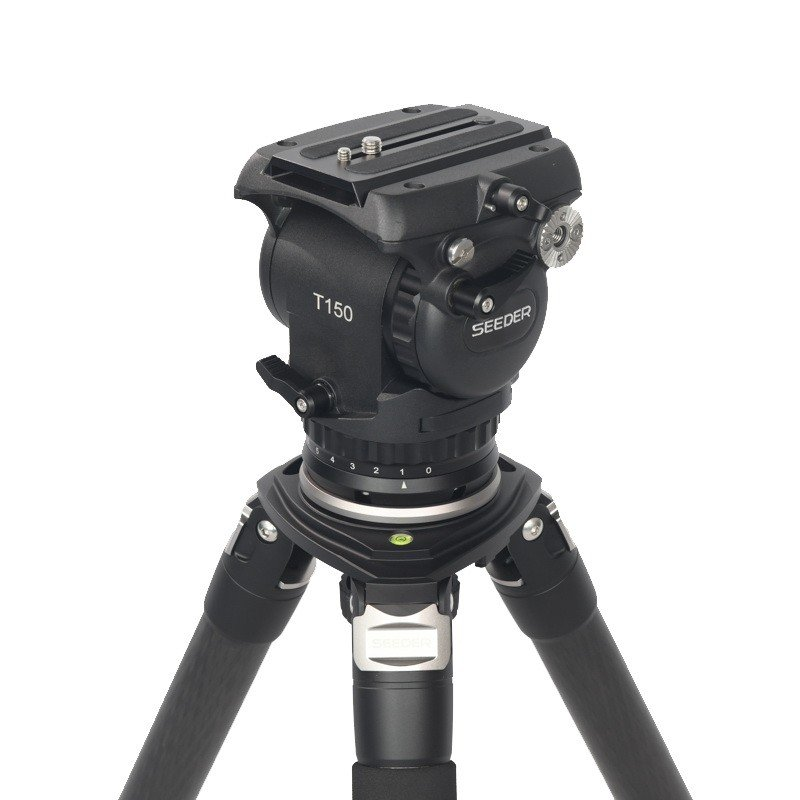 Seeder T150C4 3-stage 100% carbon fiber Video tripod System with Padded Bag