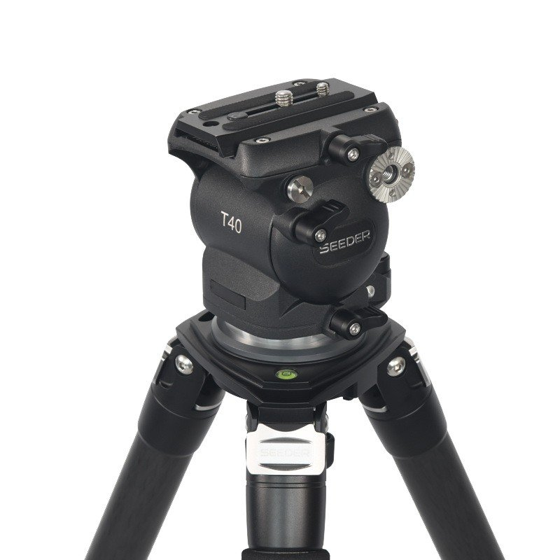 Seeder T40C4 3-stage 100% carbon fiber Video tripod System with Padded Bag