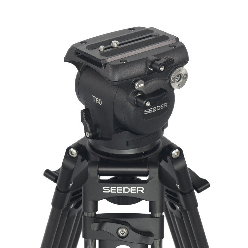 Seeder T80C2 2-stage 100% carbon fiber Video tripod System with Padded Bag