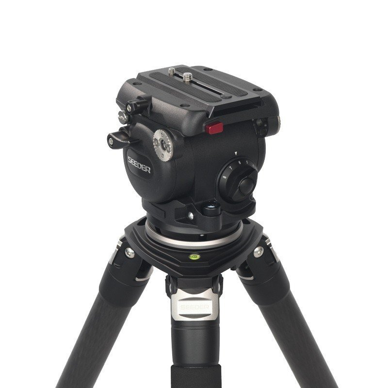 Seeder T80C4 3-stage 100% carbon fiber Video tripod System with Padded Bag