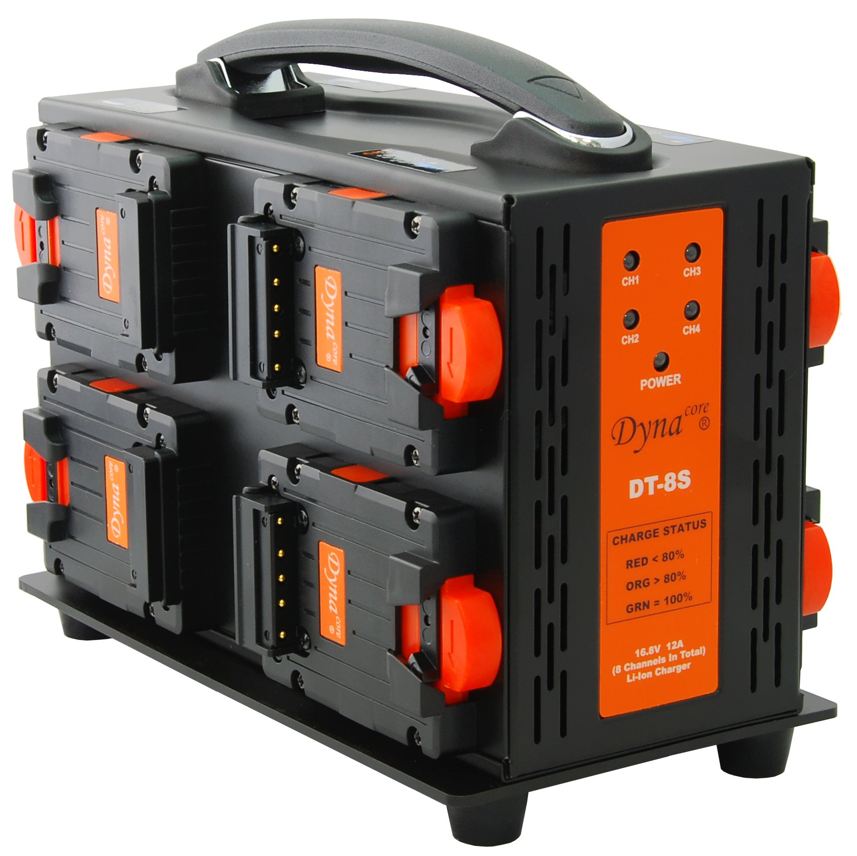 Dynacore DT-8S Portable 2-sided 8 Channel Simultaneous Charger and Power Supply