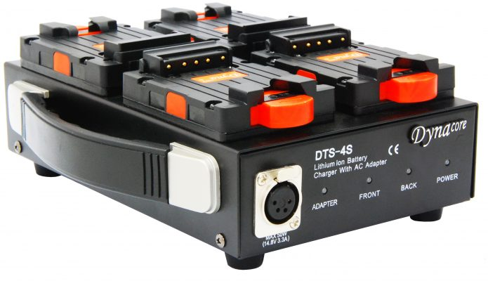 Dynacore DTS-4S 1-Sided Low Profile Quad Simultaneous Charger and Power Supply