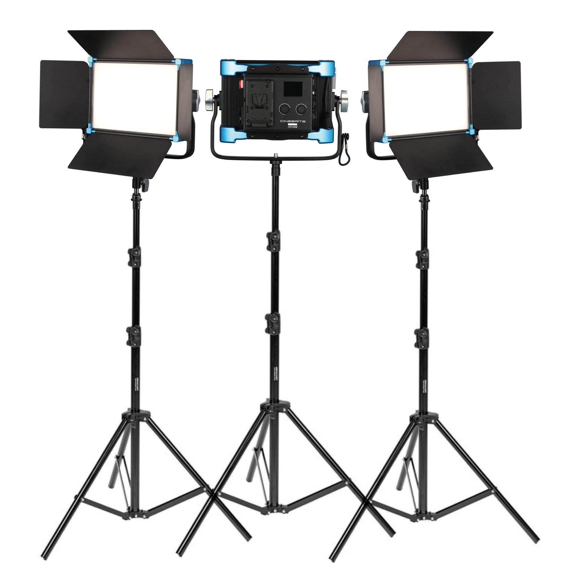 Cinebrite 1200 Bicolor studio lighting kit