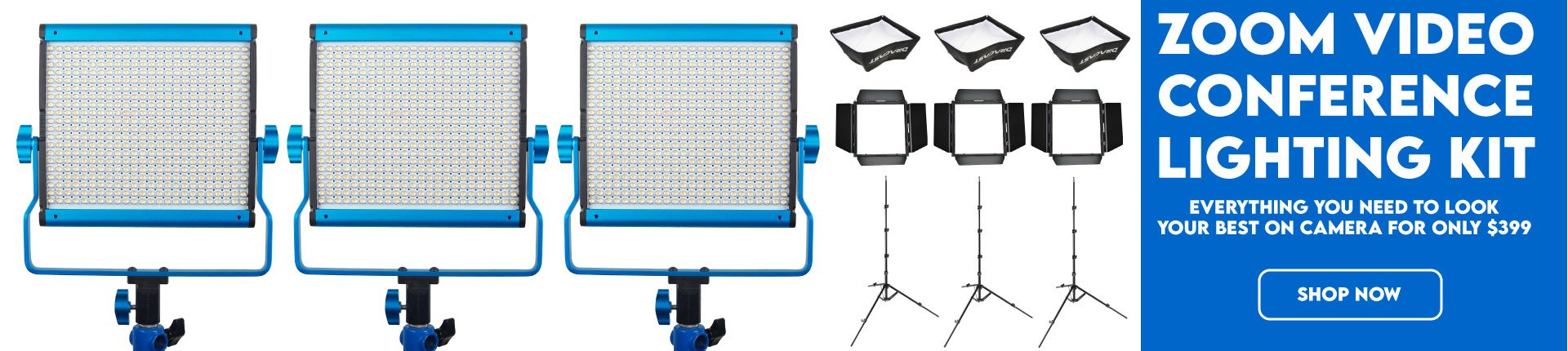 Dracast video conference LED lighting kit for zoom