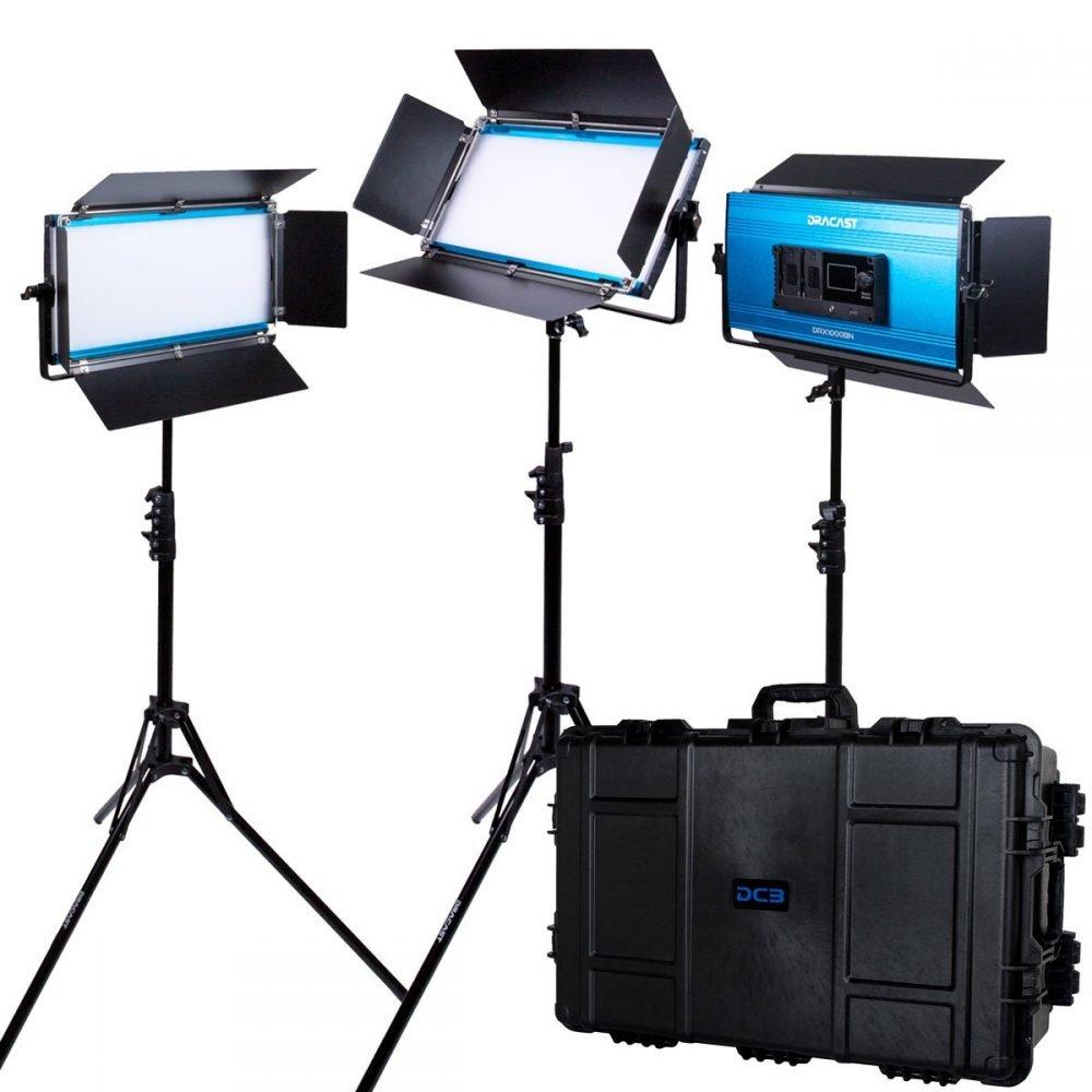 Dracast LED1000 X Series Daylight LED 3 Light Kit