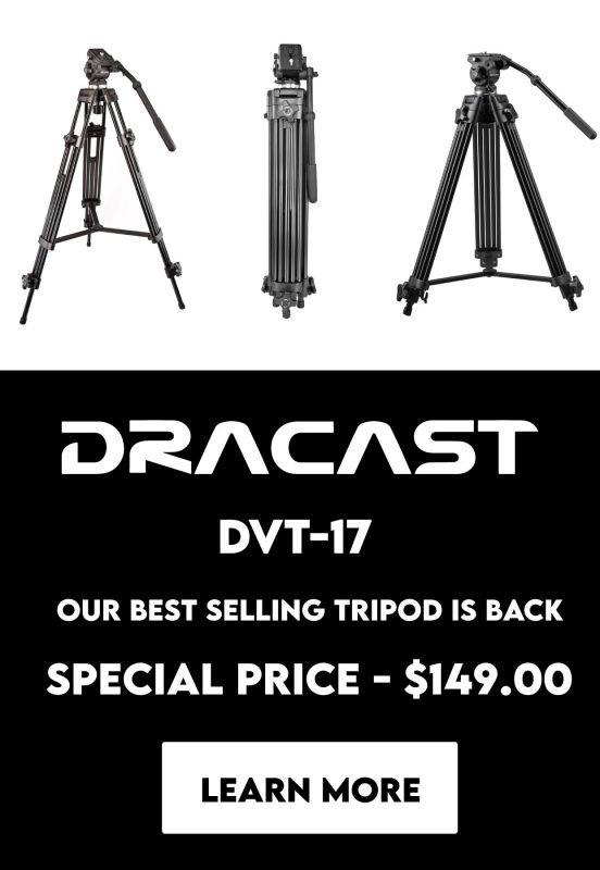 Dracast DVT-17 Professional tripod with fluid head