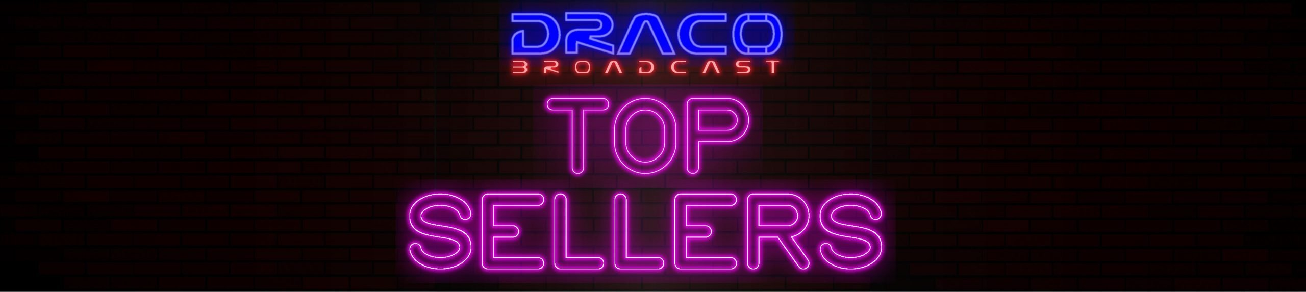 Draco top selling LED video lights, LED video light kits, teleprompters, tripods, waterproof equipment cases.