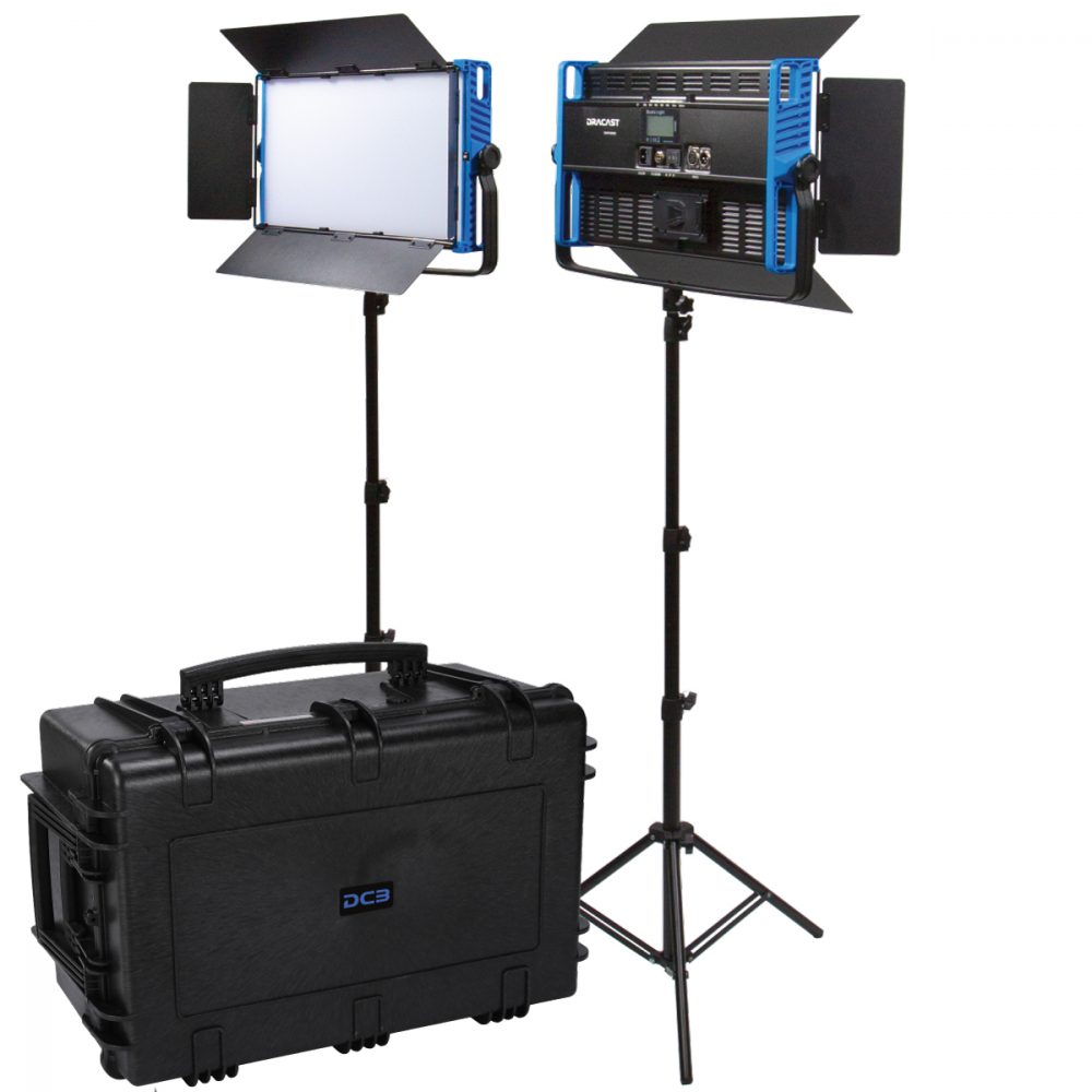 Picture of Dracast Kala Plus Series LED2000 Bi-Color 2 Light Kit with injection molded travel case
