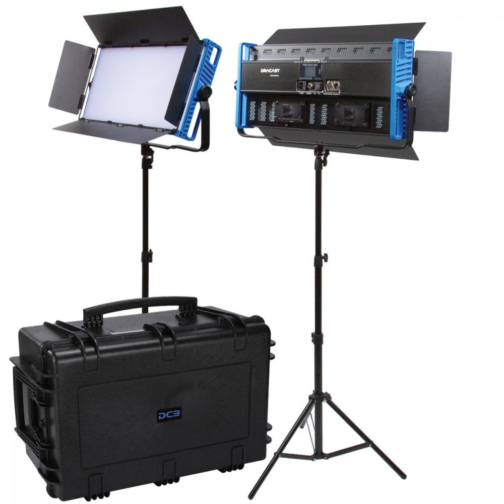 Picture of Dracast Kala Plus LED3000 Bicolor 2 Light Kit with Injection Molded Travel Case