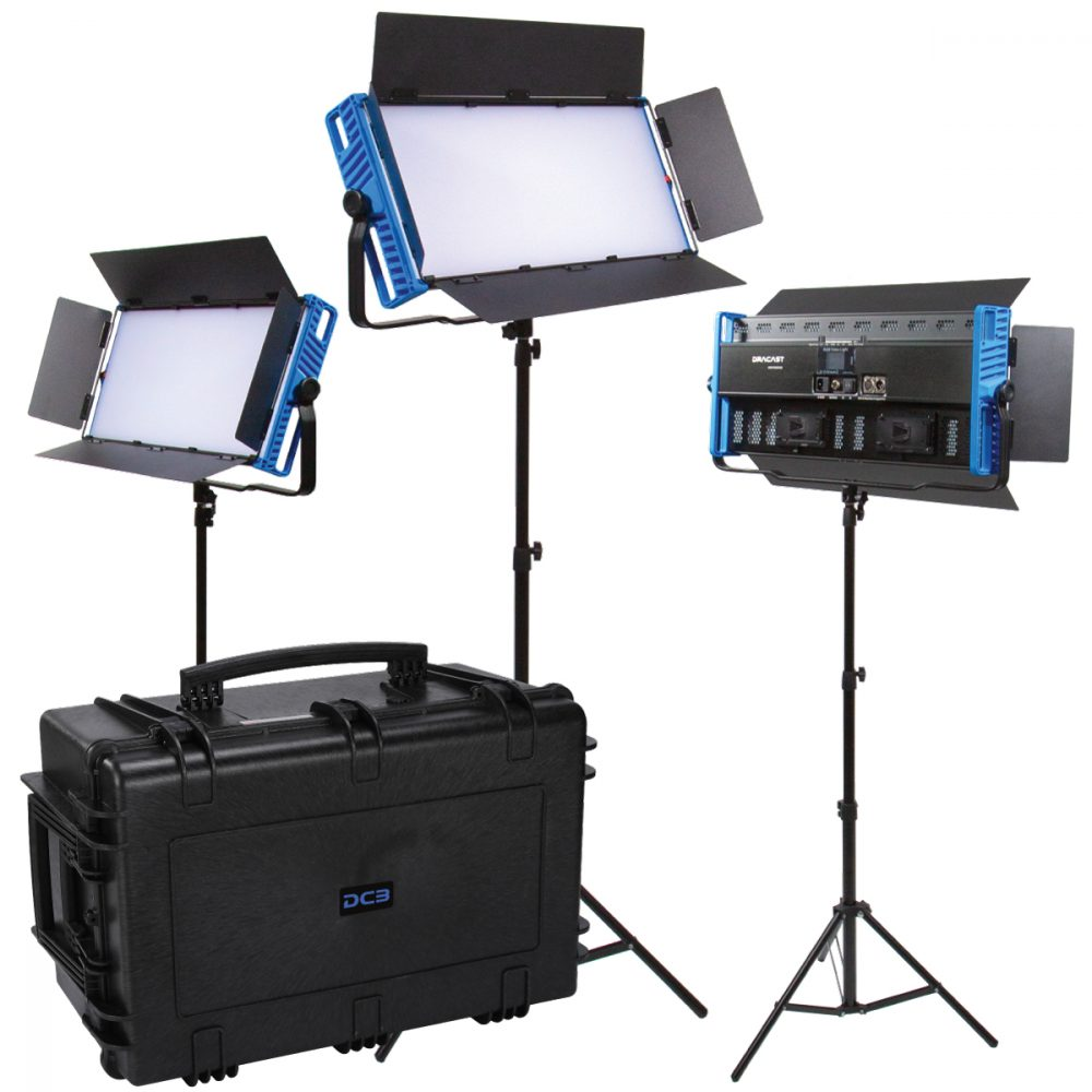 Picture of Dracast Kala Plus LED3000 Bicolor 3 Light Kit with injection molded travel case