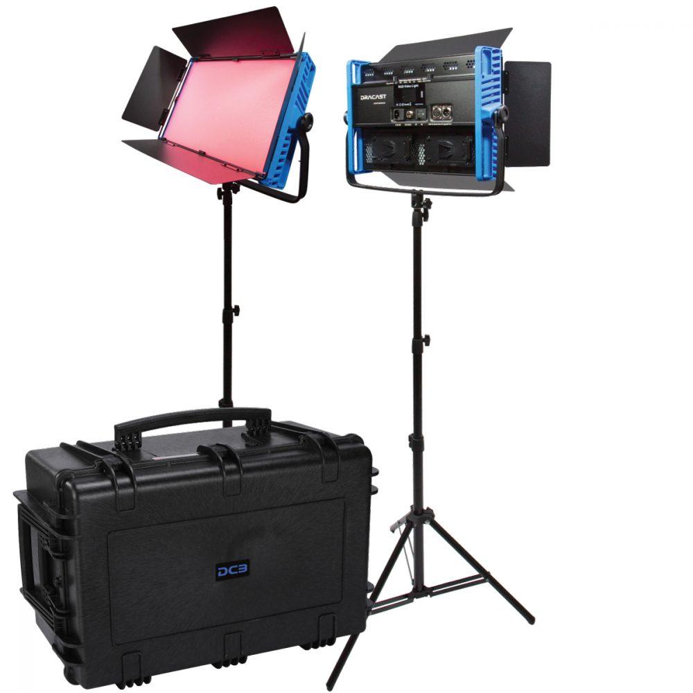 Dracast Kala Plus LED3000 RGBWW 2 light kit with injection molded travel case